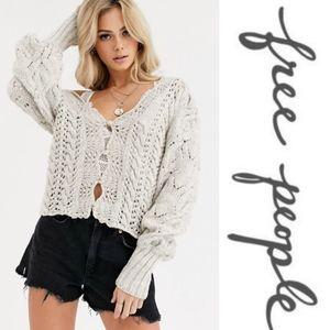 Free People Bali dreamer knit cardigan sweater